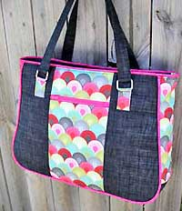 Goin' Uptown Tote Pattern in PDF by AndrieDesigns