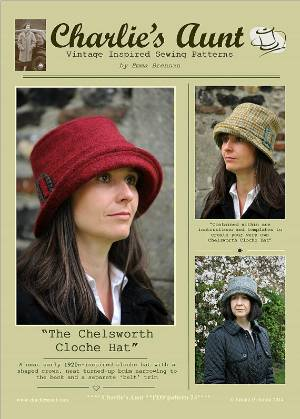 The Chelsworth Cloche Hat PDF Sewing Pattern by Charlies Aunt