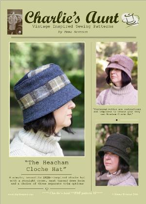The Heacham Cloche Hat PDF Sewing Pattern by Charlies Aunt