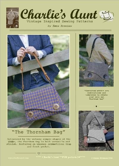 The Thornham Bag Pattern by Charlie's Aunt