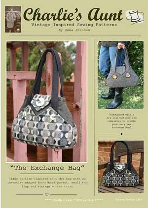 the exchange bag pattern in pdf format by charlies aunt. Black Bedroom Furniture Sets. Home Design Ideas