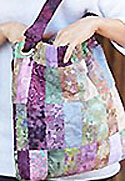 Cinched Patchwork Satchel Bag Pattern in PDF format