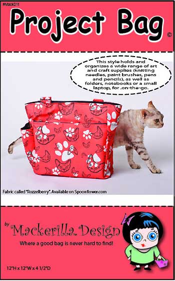 Knitting Project Bag Sewing Pattern Free : Project bag pattern in pdf by mackerilla design