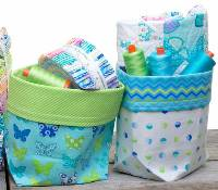 2 Fat Quarter Bucket Pattern in PDF by Me and My Sister Designs