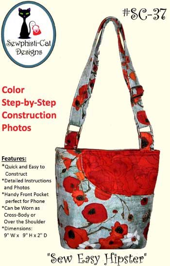 Sew Easy Hipster Bag Pattern in PDF by Sewphisti-Cat Designs
