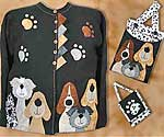 Pound Hounds Sweatshirt, tote, and cellphone holder pattern in PDF